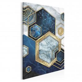 Szafirowy sygnet - nowoczesny obraz na płótnie - 50x70 cm