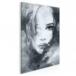 Dusza z antracytu w szarościach - nowoczesny obraz na płótnie - 50x70 cm