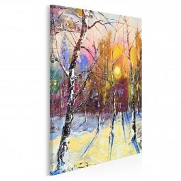 Zimowy poranek - nowoczesny obraz do salonu - 50x70 cm