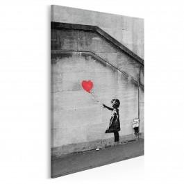 Banksy - Dziewczynka - nowoczesny obraz na płótnie - 50x70 cm
