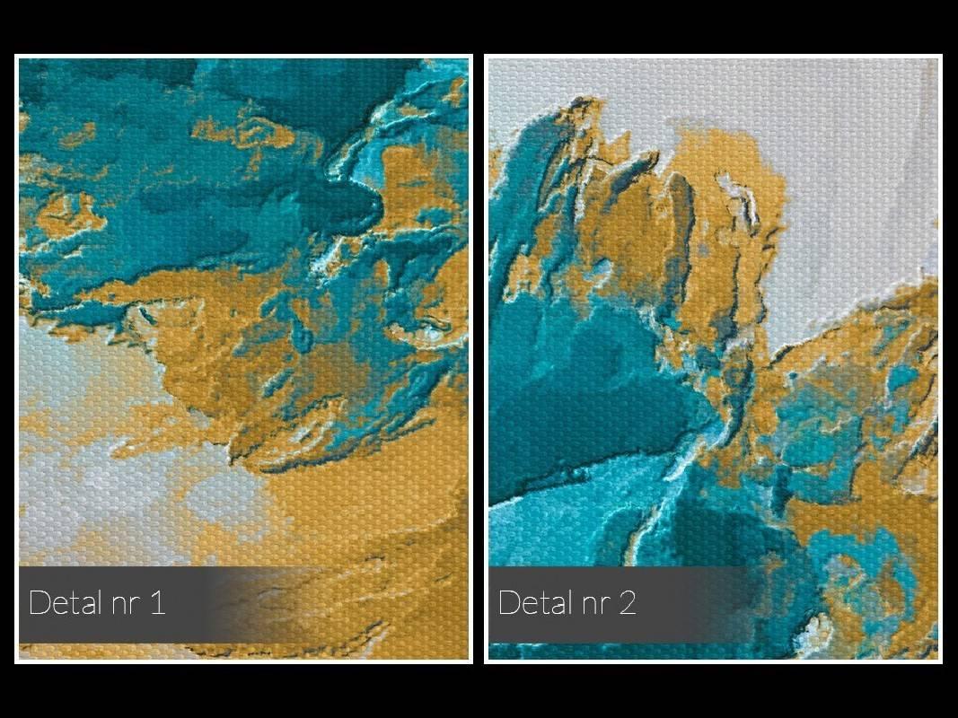 Urok turkusu - nowoczesny obraz na płótnie - 50x70 cm