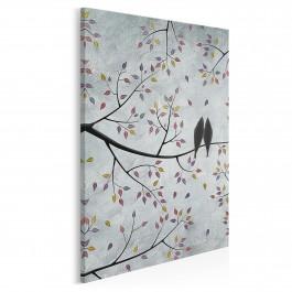 Wolni w miłości - nowoczesny obraz na płótnie - 50x70 cm