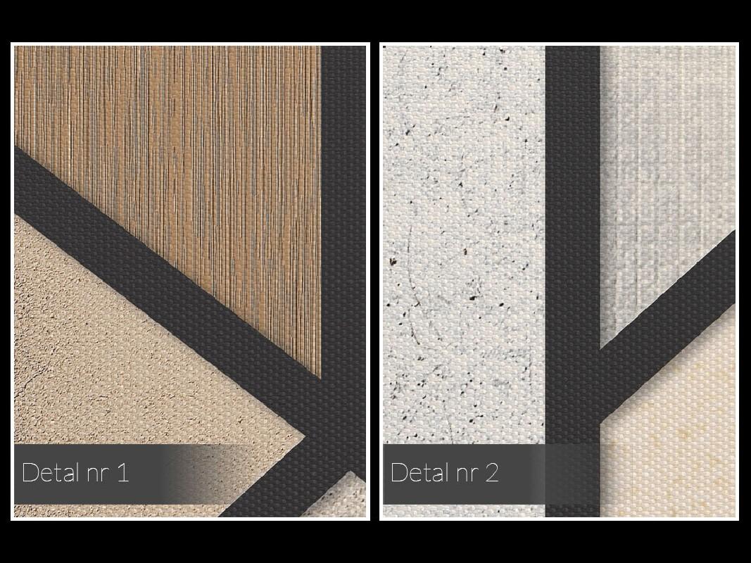 Modne beże, brązy i kremy - nowoczesny obraz na płótnie - 50x70 cm
