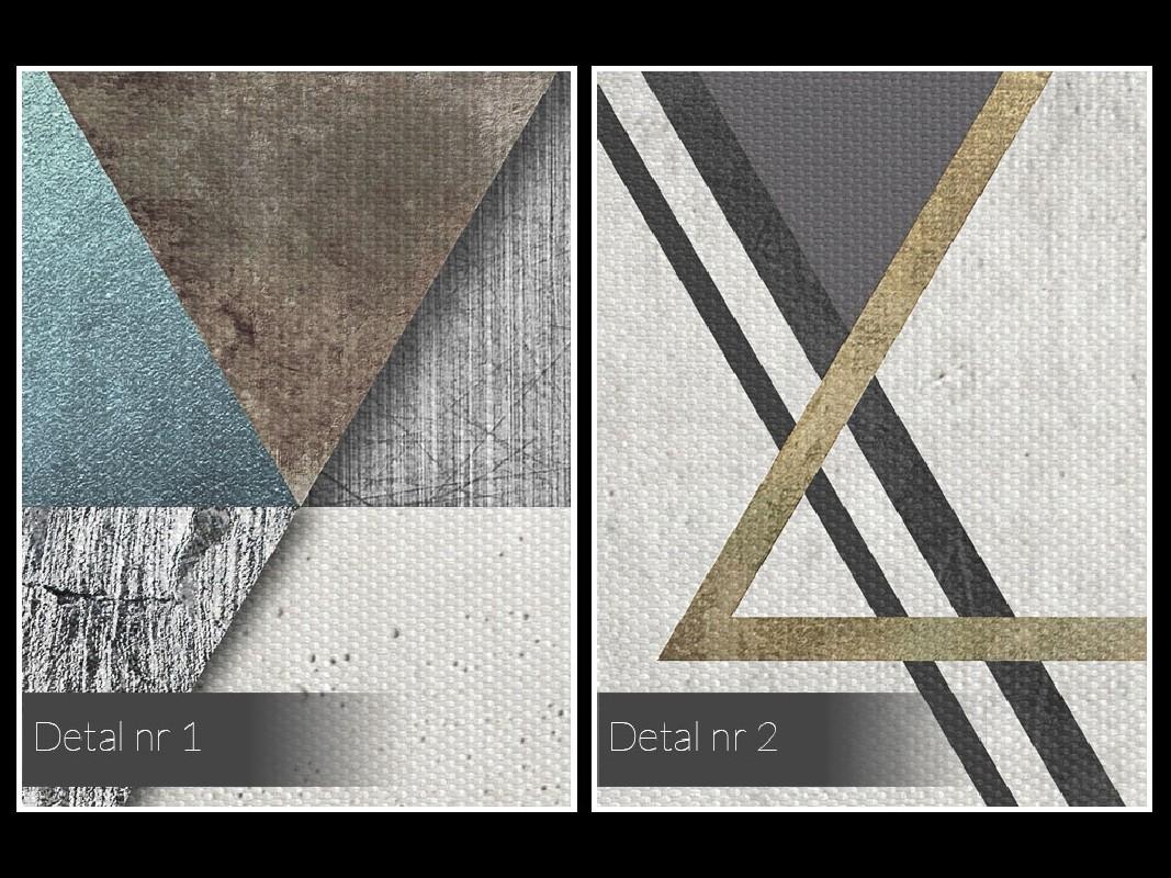 Teoria względności - nowoczesny obraz na płótnie - 50x70 cm