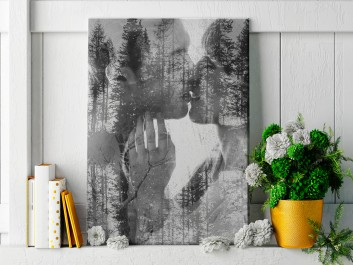 Siła jedności - nowoczesny obraz na płótnie - 50x70 cm