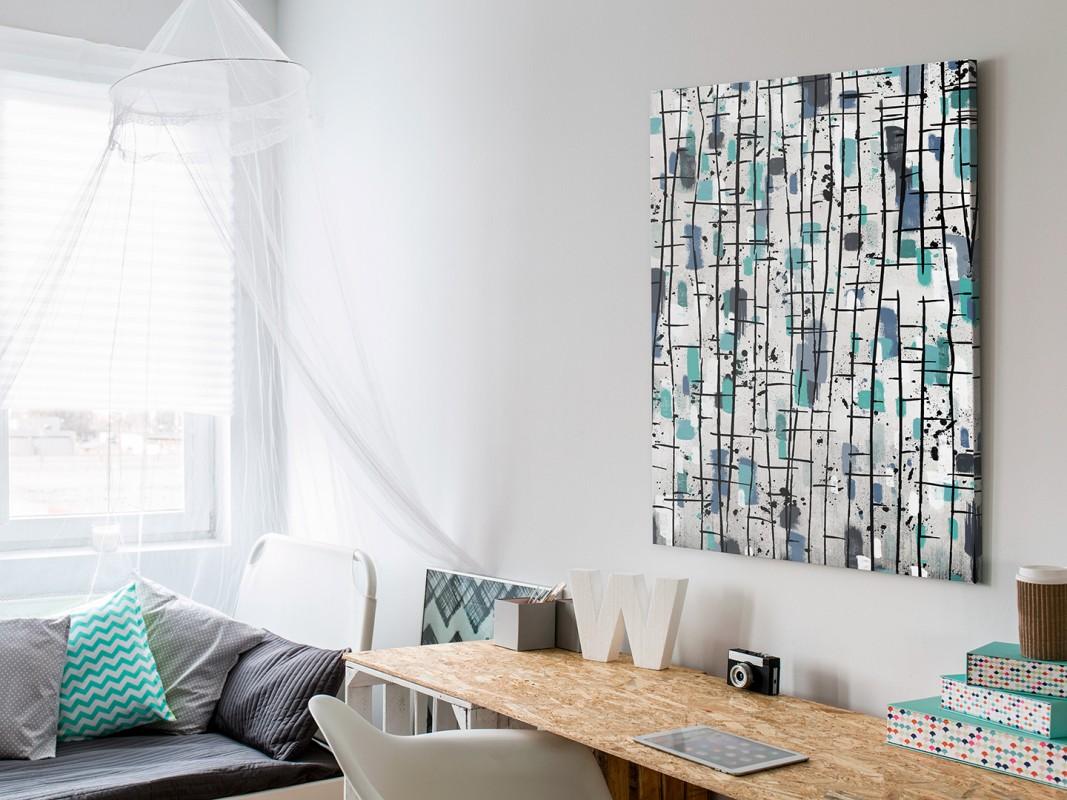 Nordyckie legendy - nowoczesny obraz do sypialni - 50x70 cm