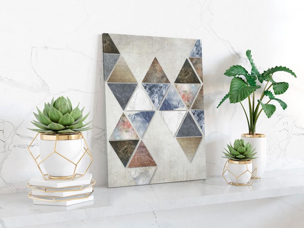 Finezyjna forma - nowoczesny obraz na płótnie - 50x70 cm