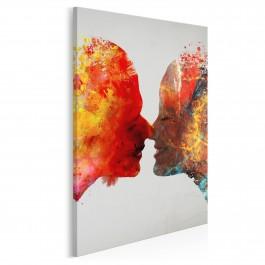 Kolory miłości - nowoczesny obraz na płótnie - 50x70 cm