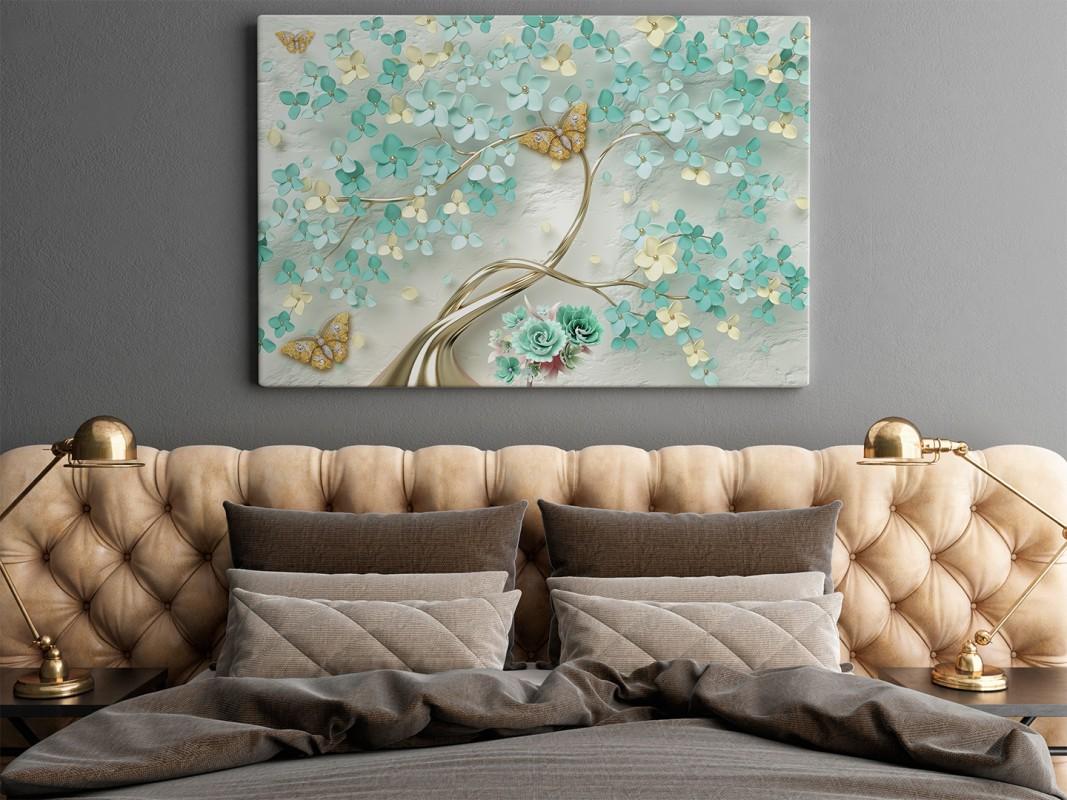 Atelier miłości - nowoczesny obraz do sypialni - 120x80 cm