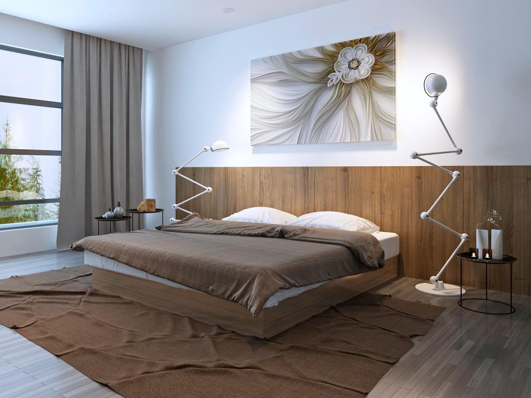 Biały impresariat - nowoczesny obraz do sypialni - 120x80 cm