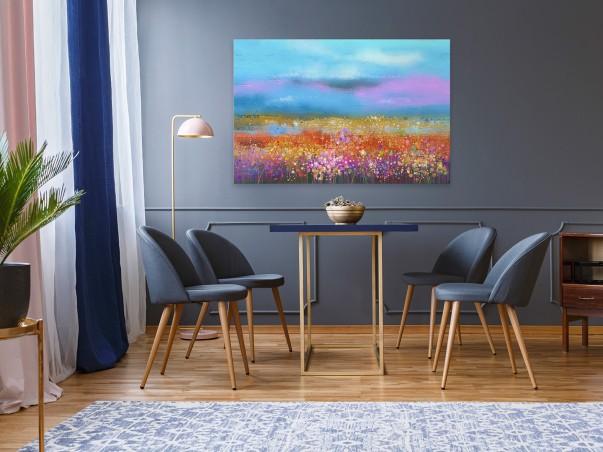 Rumieńce lata - nowoczesny obraz do salonu - 120x80 cm