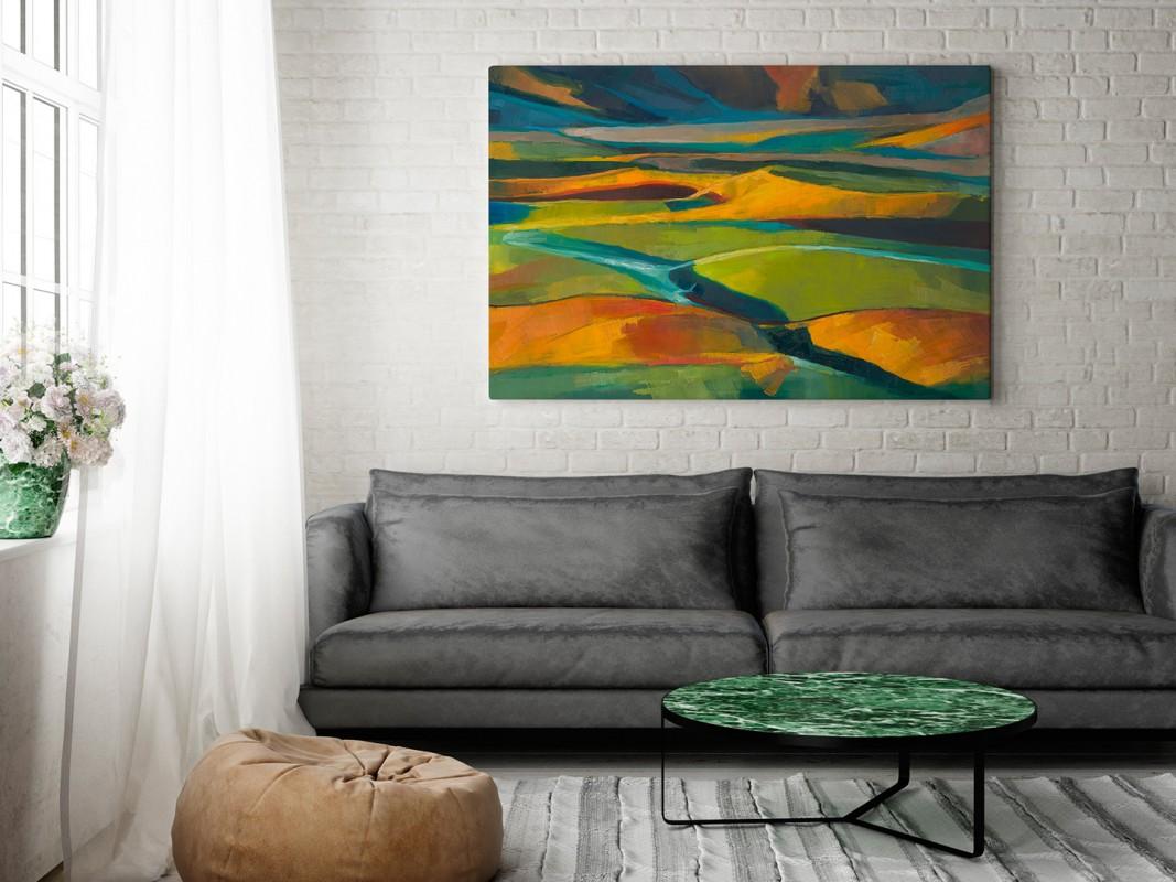 Nowe horyzonty - nowoczesny obraz na płótnie - 120x80 cm