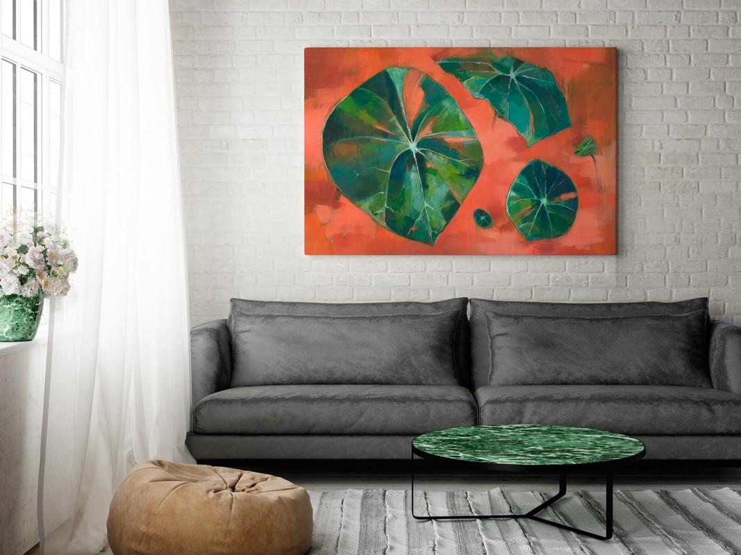 Monsteriada - nowoczesny obraz na płótnie - 120x80 cm