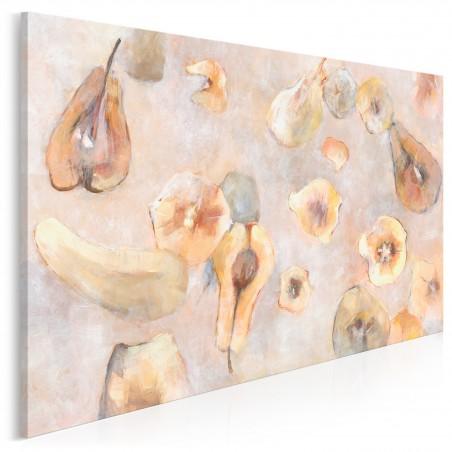 Konferencja pod gruszą - nowoczesny obraz na płótnie - 120x80 cm