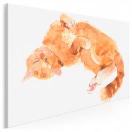 Mruczando - nowoczesny obraz na płótnie - 120x80 cm
