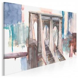 Poetycki Brooklyn - nowoczesny obraz do salonu - 120x80 cm