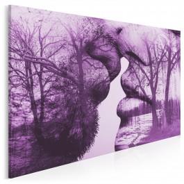 Antologia romantyzmu - nowoczesny obraz do sypialni - 120x80 cm