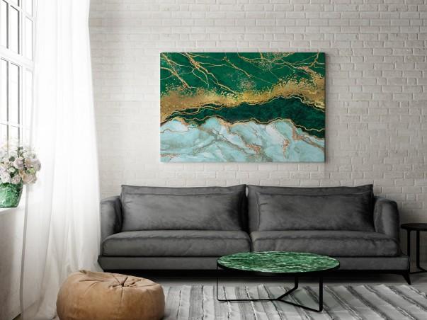 Nurt życia - nowoczesny obraz do salonu - 120x80 cm