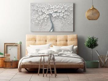 Srebrne gody - nowoczesny obraz na płótnie - 120x80 cm