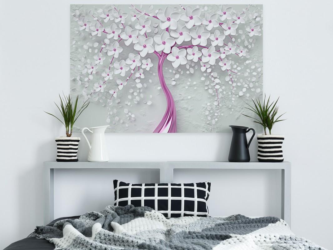 Weselny orszak - nowoczesny obraz na płótnie - 120x80 cm