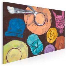 Czapki z głów - nowoczesny obraz do sypialni - 120x80 cm