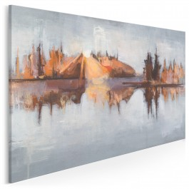 Tafla melancholii - nowoczesny obraz do sypialni - 120x80 cm