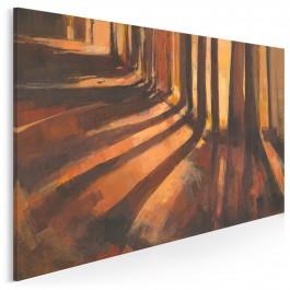 Leśne miraże - nowoczesny obraz do salonu - 120x80 cm
