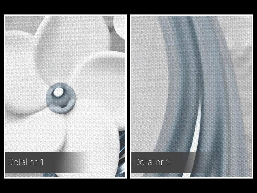 Srebrne gody - nowoczesny obraz na płótnie - 80x80 cm