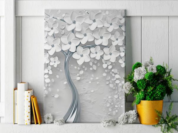 Srebrne gody - nowoczesny obraz na płótnie - 50x70 cm