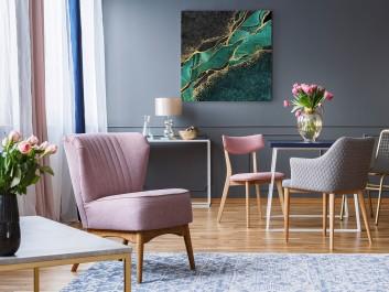 Nienasycenie - nowoczesny obraz do salonu - 80x80 cm