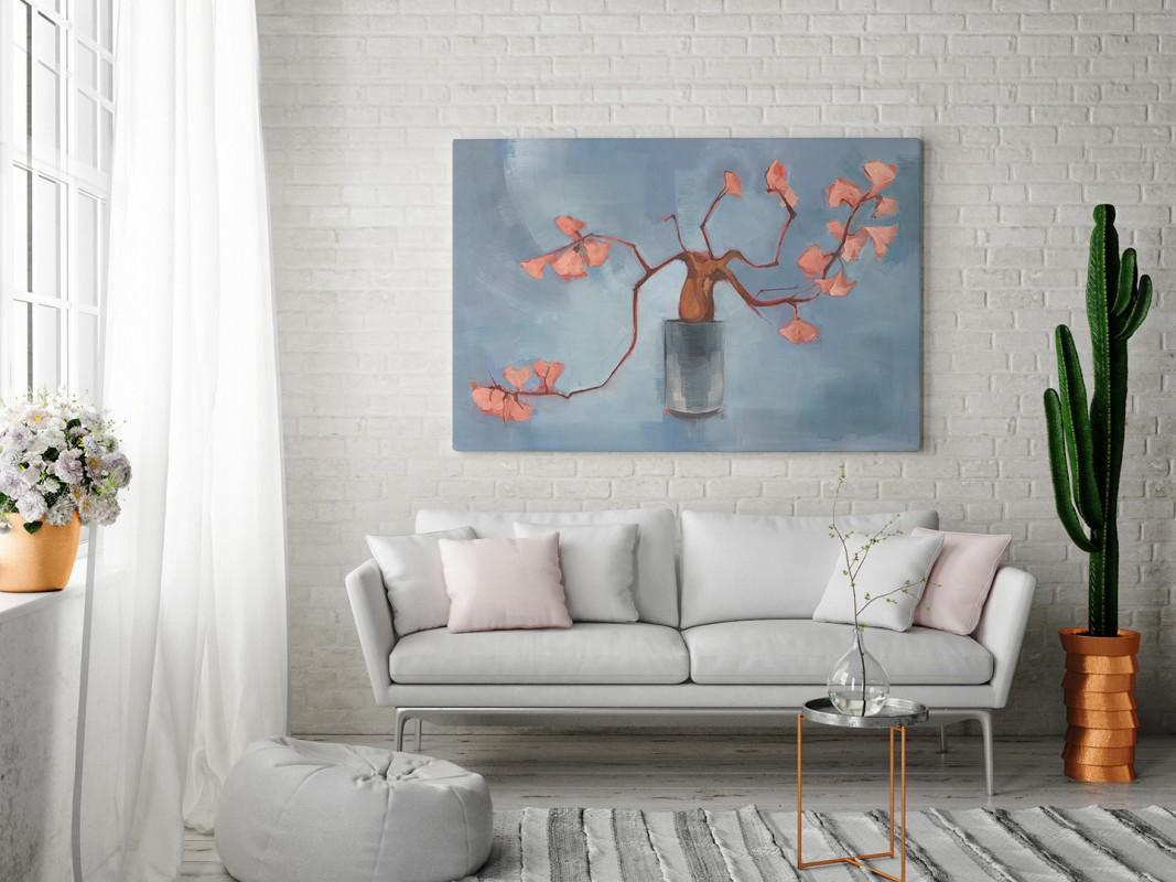Przebudzenie magnolii - nowoczesny obraz na płótnie - 120x80 cm
