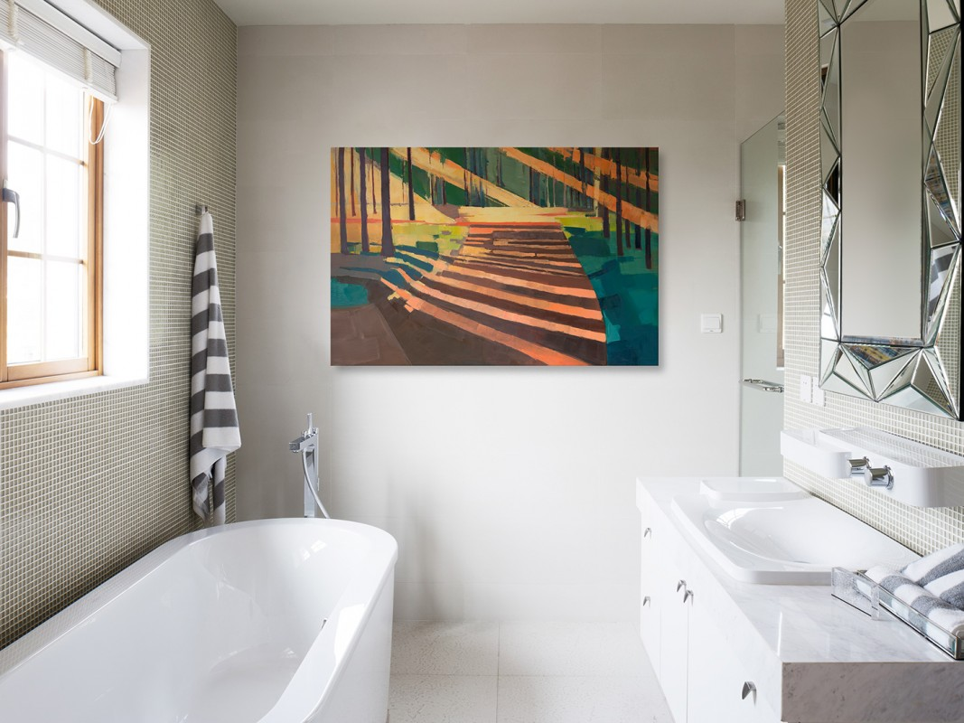 Przedświt - nowoczesny obraz do salonu - 120x80 cm