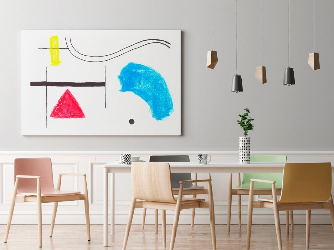 Filozofia bytu - nowoczesny obraz do salonu - 120x80 cm