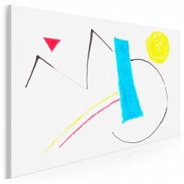 Filozofia istnienia - nowoczesny obraz do sypialni - 120x80 cm