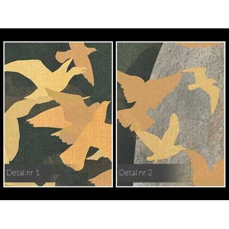 Wolne ptaki - nowoczesny obraz na płótnie - 120x80 cm