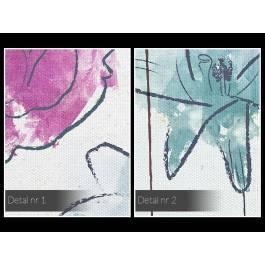 Ogród pozytywnych wibracji - nowoczesny obraz na płótnie - 120x80 cm
