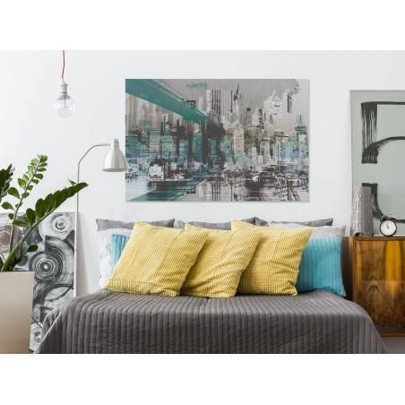 Miejskie legendy - nowoczesny obraz na płótnie - 120x80 cm