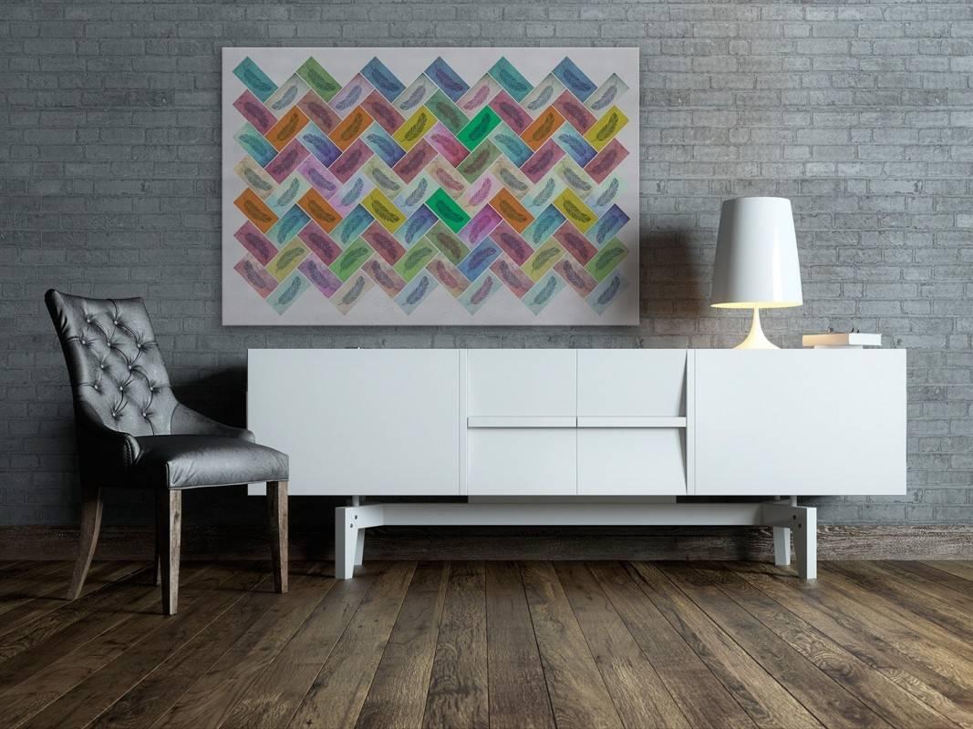 Indiańska baśń - nowoczesny obraz na płótnie - 120x80 cm
