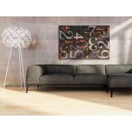 Kod doskonałości - nowoczesny obraz na płótnie - 120x80 cm