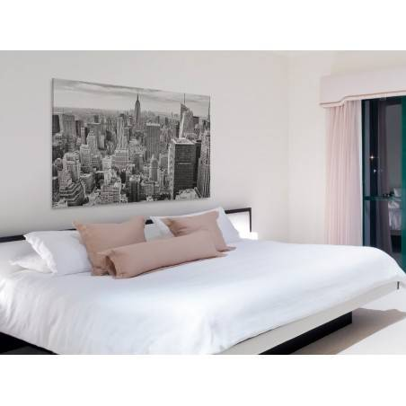 Nowy Jork w czerni i bieli - fotoobraz do sypialni - 120x80 cm