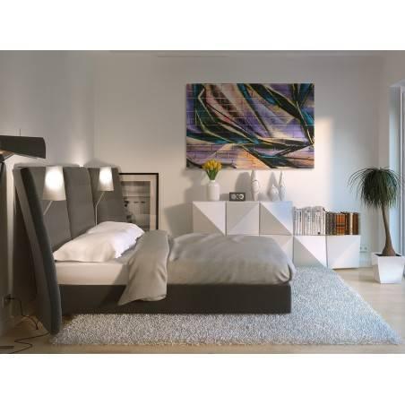 Ścienne graffiti - fotoobraz do sypialni - 120x80 cm