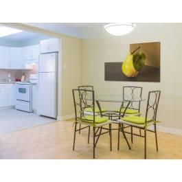 Gruszkowa perspektywa - fotoobraz do kuchni - 120x80 cm