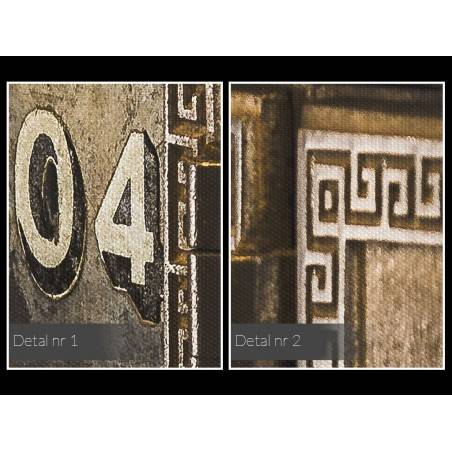 Skrytki myśli - nowoczesny obraz na płótnie - 120x80 cm