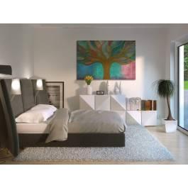 Witraże chwil - nowoczesny obraz na płótnie - 120x80 cm
