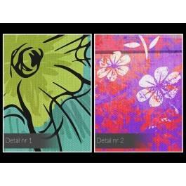 Flower power - nowoczesny obraz na płótnie