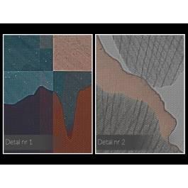 Magia liści ginko - nowoczesny obraz na płótnie - 120x80 cm