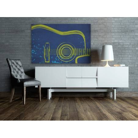 ...I gitara - nowoczesny obraz na płótnie - 120x80 cm