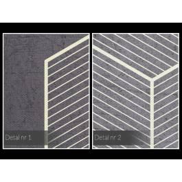 Geometryczny kształt - nowoczesny obraz na płótnie - 80x80 cm