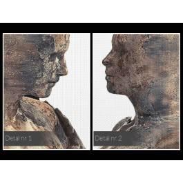 Metafizyka miłości - nowoczesny obraz na płótnie - 120x80 cm