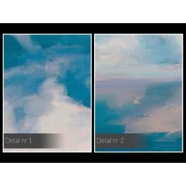 Niebiański spokój - nowoczesny obraz na płótnie - 80x80 cm